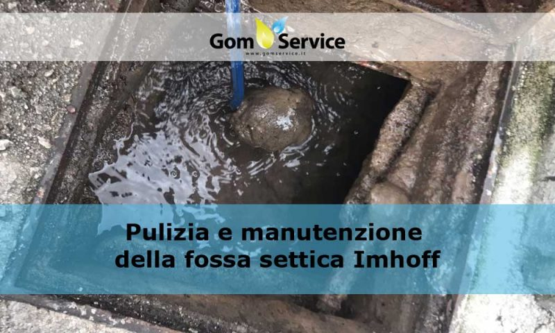 Pulizia e manutenzione della fossa settica Imhoff